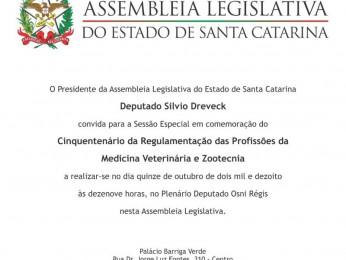 Médicos Veterinários serão homenageados pela ALESC