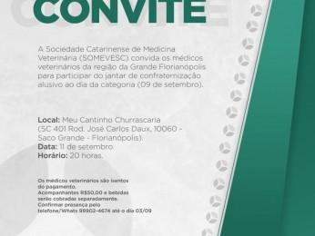 Somevesc promove jantar de confraternização em homenagem aos Médicos Veterinários