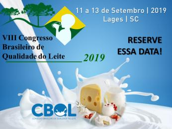 VIII Congresso Brasileiro de Qualidade do Leite |11 a 13 de setembro | Lages – SC